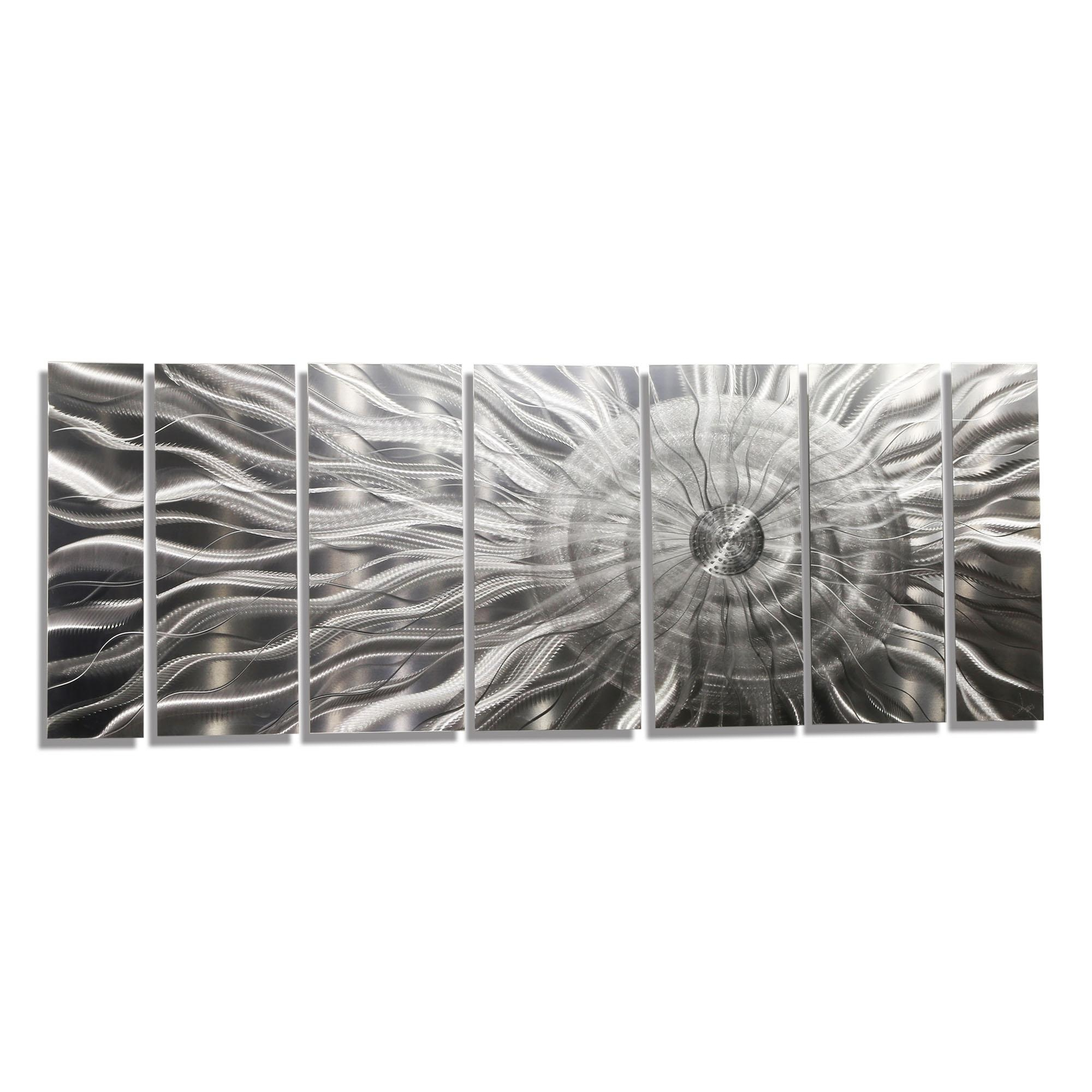 Photon Xl – Extra Large Modern Abstract Silver Corporate Metal In Corporate Wall Art (Image 17 of 20)