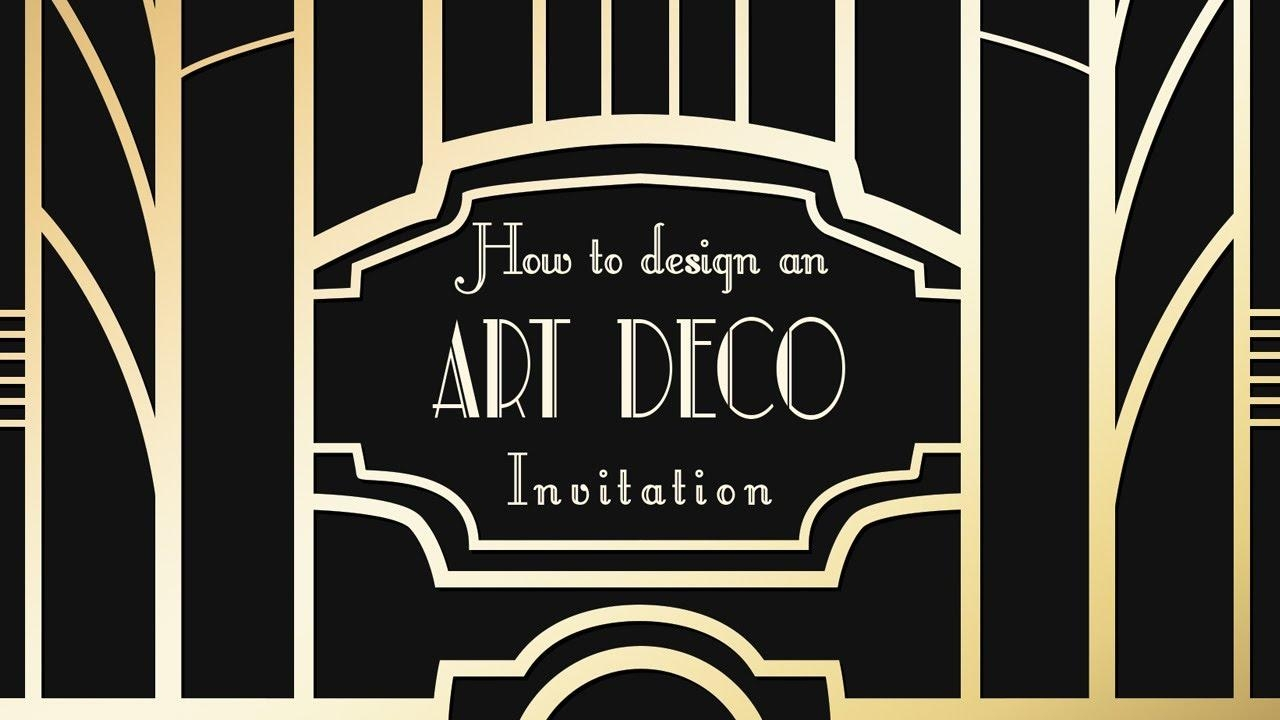 Photoshop Tutorial – Art Deco (Great Gatsby) Invitations – Youtube In Great Gatsby Wall Art (View 20 of 20)