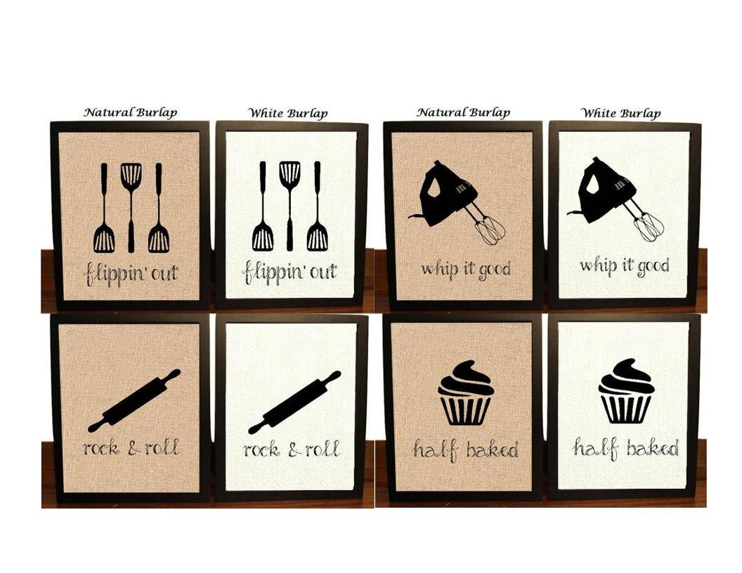 Pick 4 Kitchen Wall Decor Kitchen Sign Kitchen Art Kitchen Pertaining To Kitchen Wall Art (Image 16 of 20)