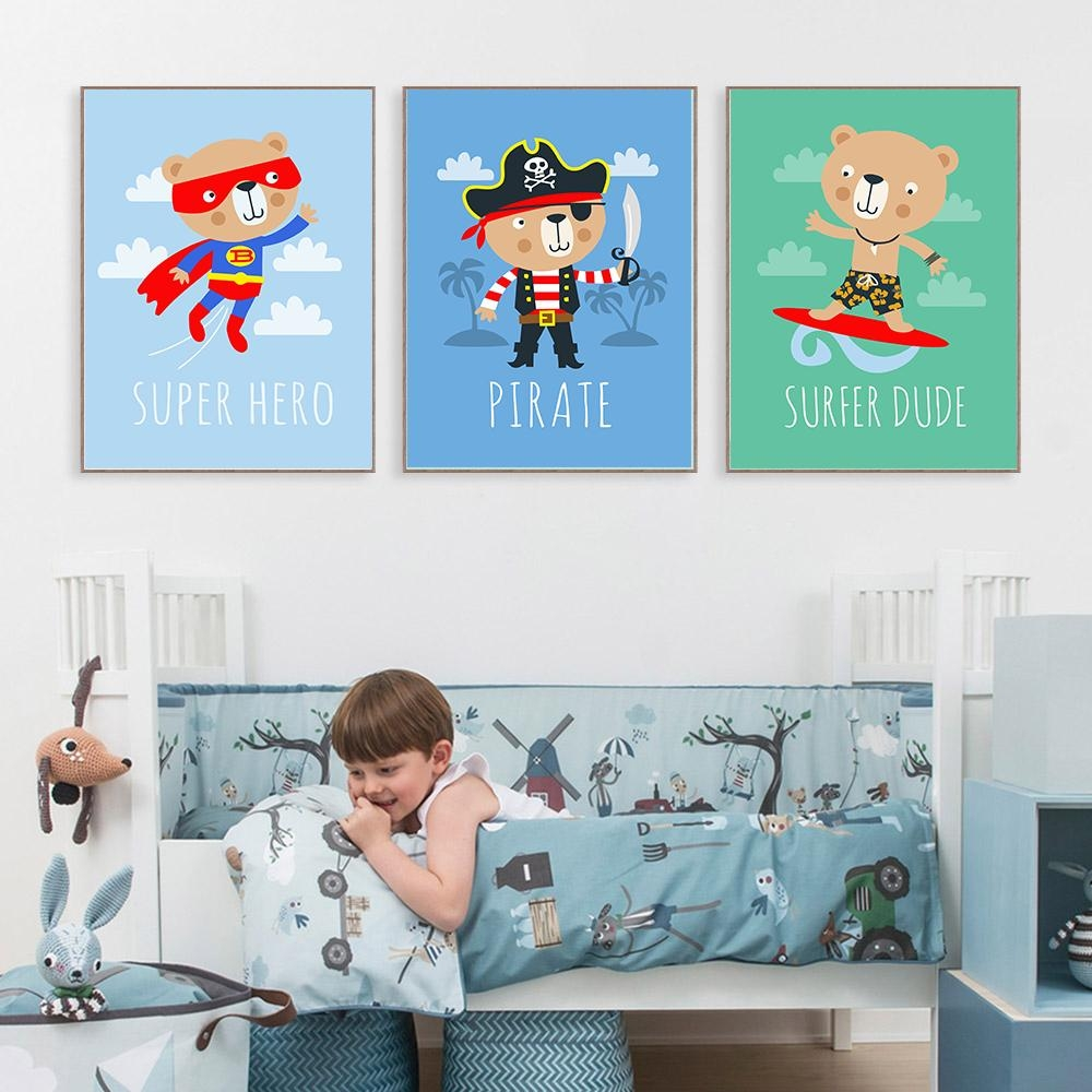 Pictures Kids Bedrooms Promotion Shop For Promotional Pictures Intended For Childrens Wall Art Canvas (Image 17 of 20)