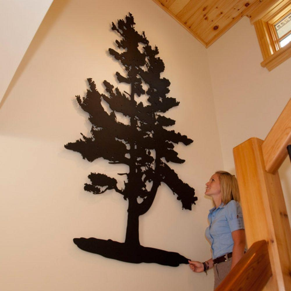 Pine Tree – Custom Laser Cut Metal Art | Railingart Within Pine Tree Metal Wall Art (Image 10 of 20)
