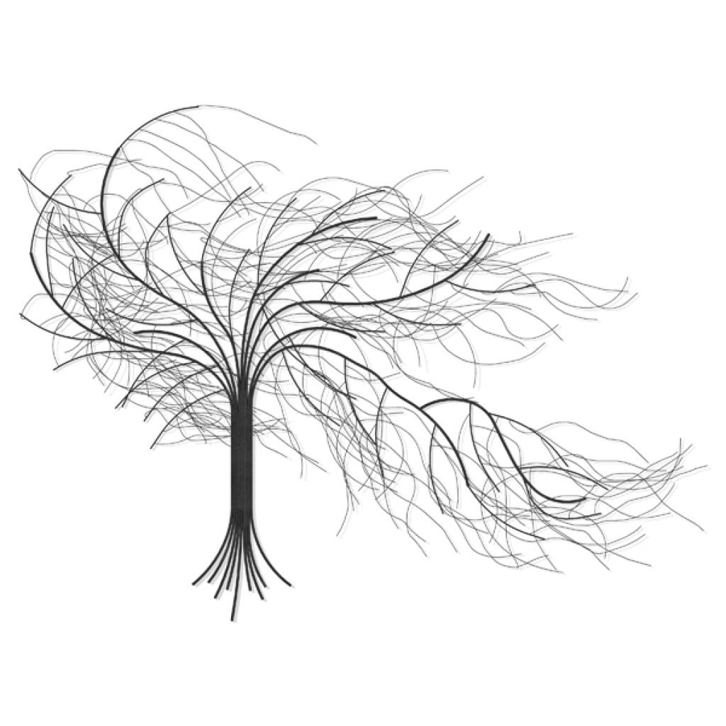 Pine Tree Metal Wall Art: Beautiful Pictures, Photos Of Remodeling Inside Wrought Iron Tree Wall Art (Image 8 of 20)