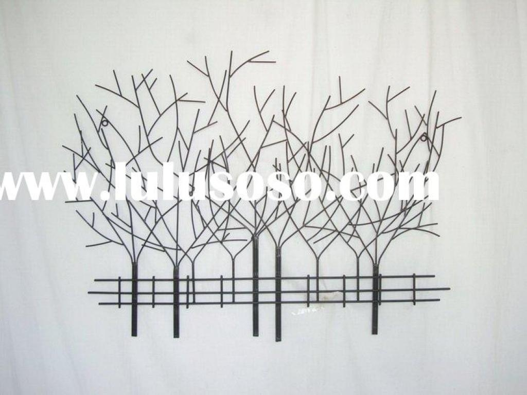 Pine Tree Metal Wall Art: Beautiful Pictures, Photos Of Remodeling Pertaining To Wrought Iron Tree Wall Art (Image 9 of 20)