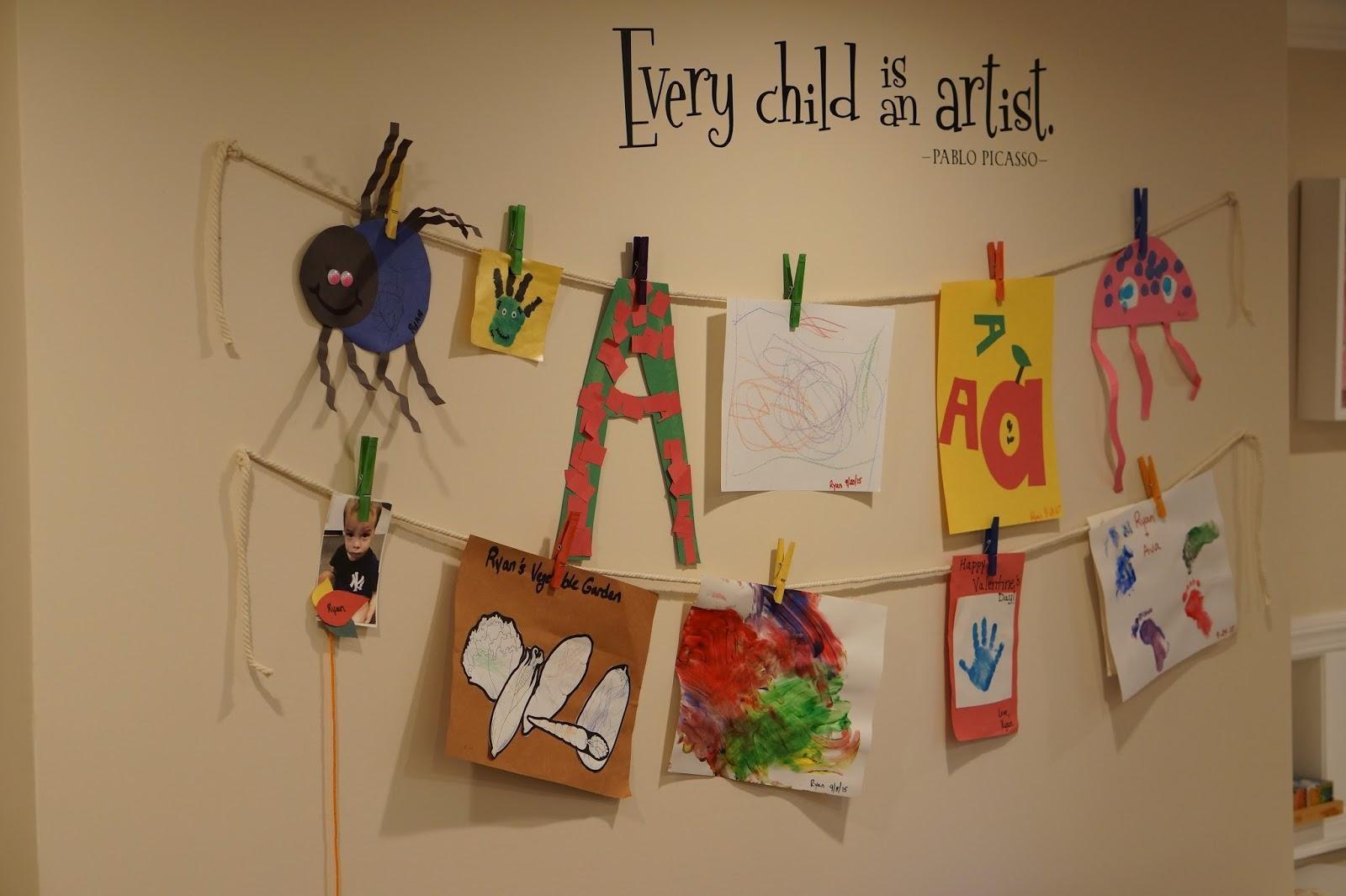 Pinkrosemama: Diy Playroom Art Wall For Playroom Wall Art (Image 12 of 20)