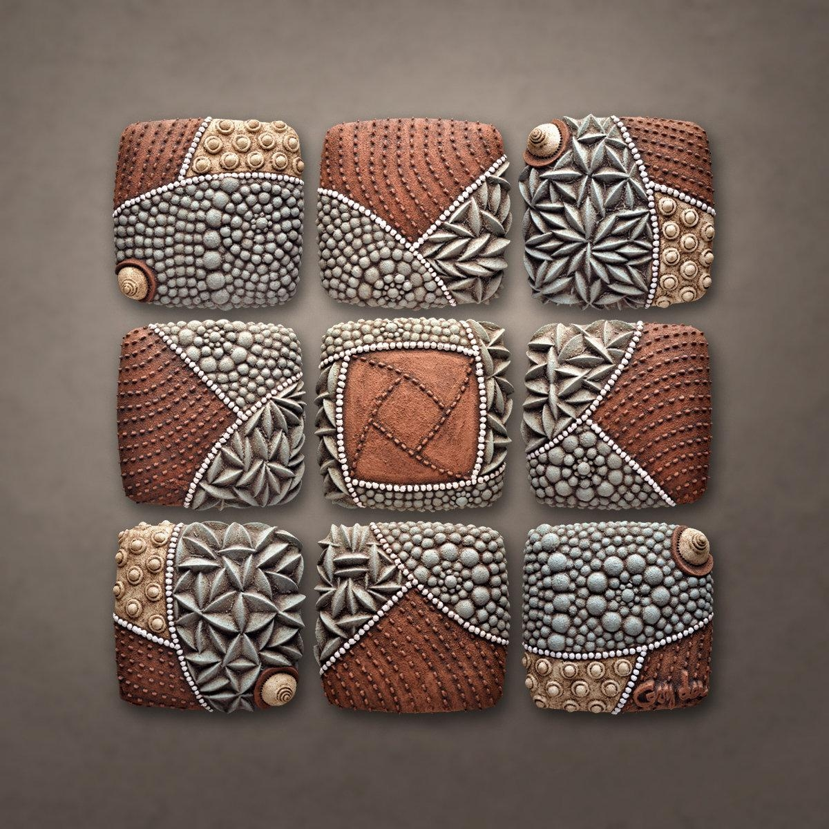 Pinwheel Patternchristopher Gryder (Ceramic Wall Sculpture Intended For Large Ceramic Wall Art (View 2 of 20)
