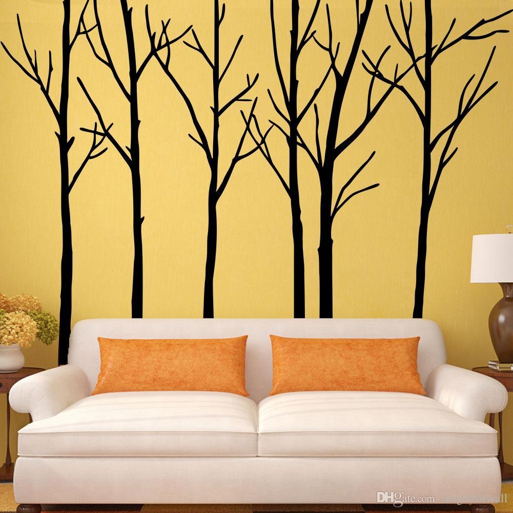 Plain Decoration Tree Branch Wall Art Lovely Extra Large Black With Regard To Tree Branch Wall Art (Image 11 of 20)