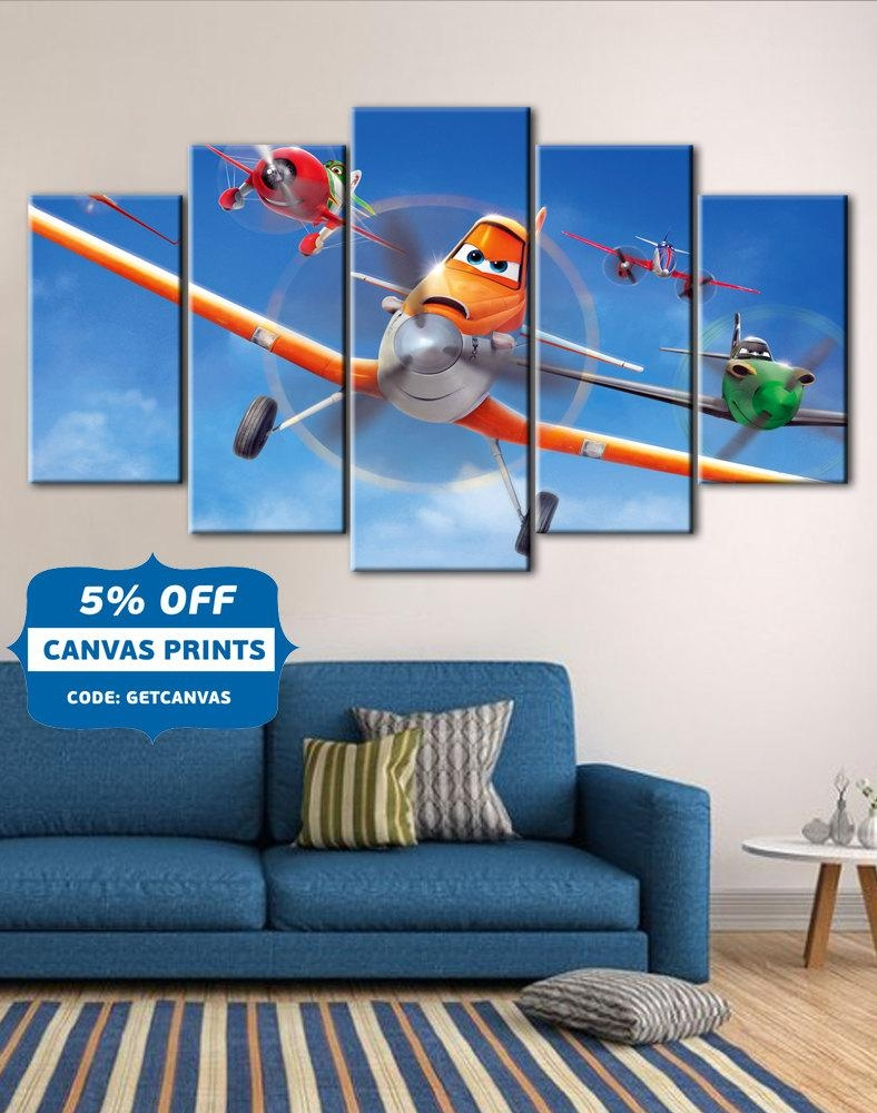 Planes Planes Fire & Rescue Art Kids Room Disney Canvas Art With Regard To Disney Canvas Wall Art (View 3 of 20)