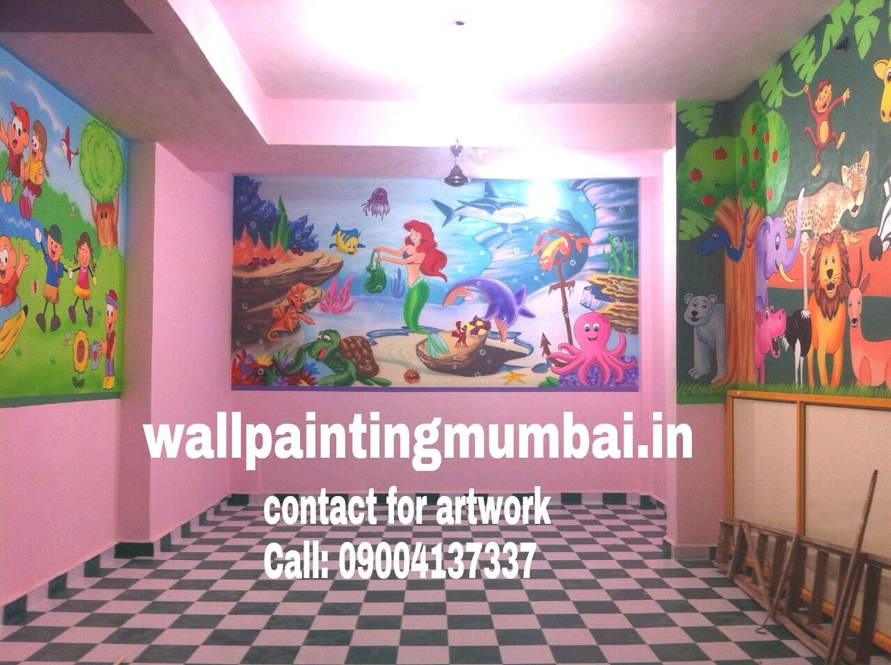 Play School Wall Painting: Playschool Or Preschool Classroom Wall Within Preschool Wall Art (View 6 of 20)