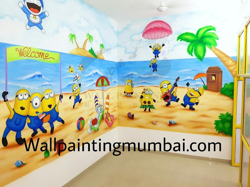 Play School Wall Painting Throughout Preschool Wall Art (Image 12 of 20)