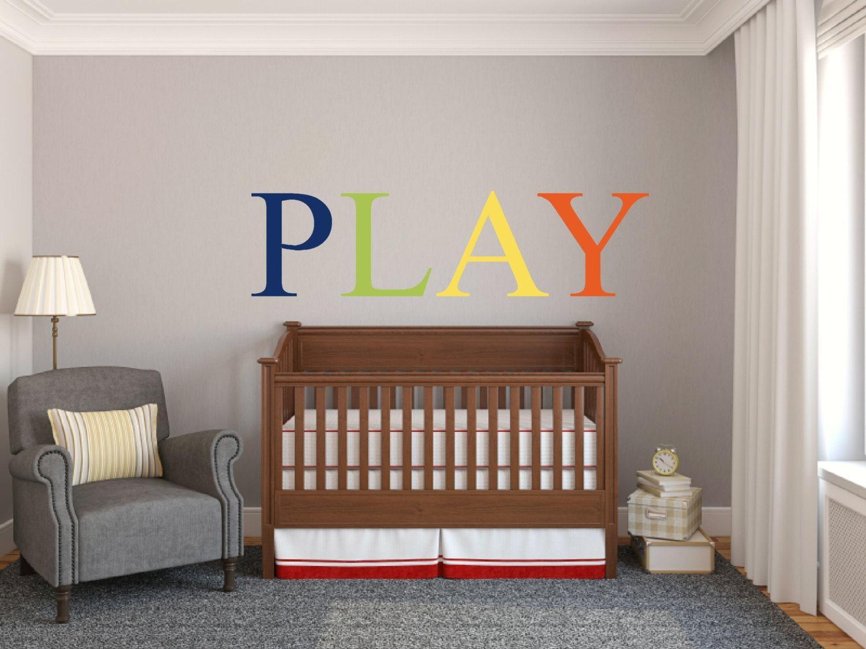 Play Wall Decal Play Wall Vinyl Playroom Preschool Inside Preschool Classroom Wall Decals (View 20 of 20)