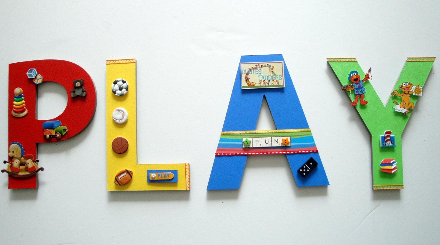 Playroom Wall Letters Playroom Wall Art Toys And Games Wall Inside Wall Art For Playroom (View 12 of 20)