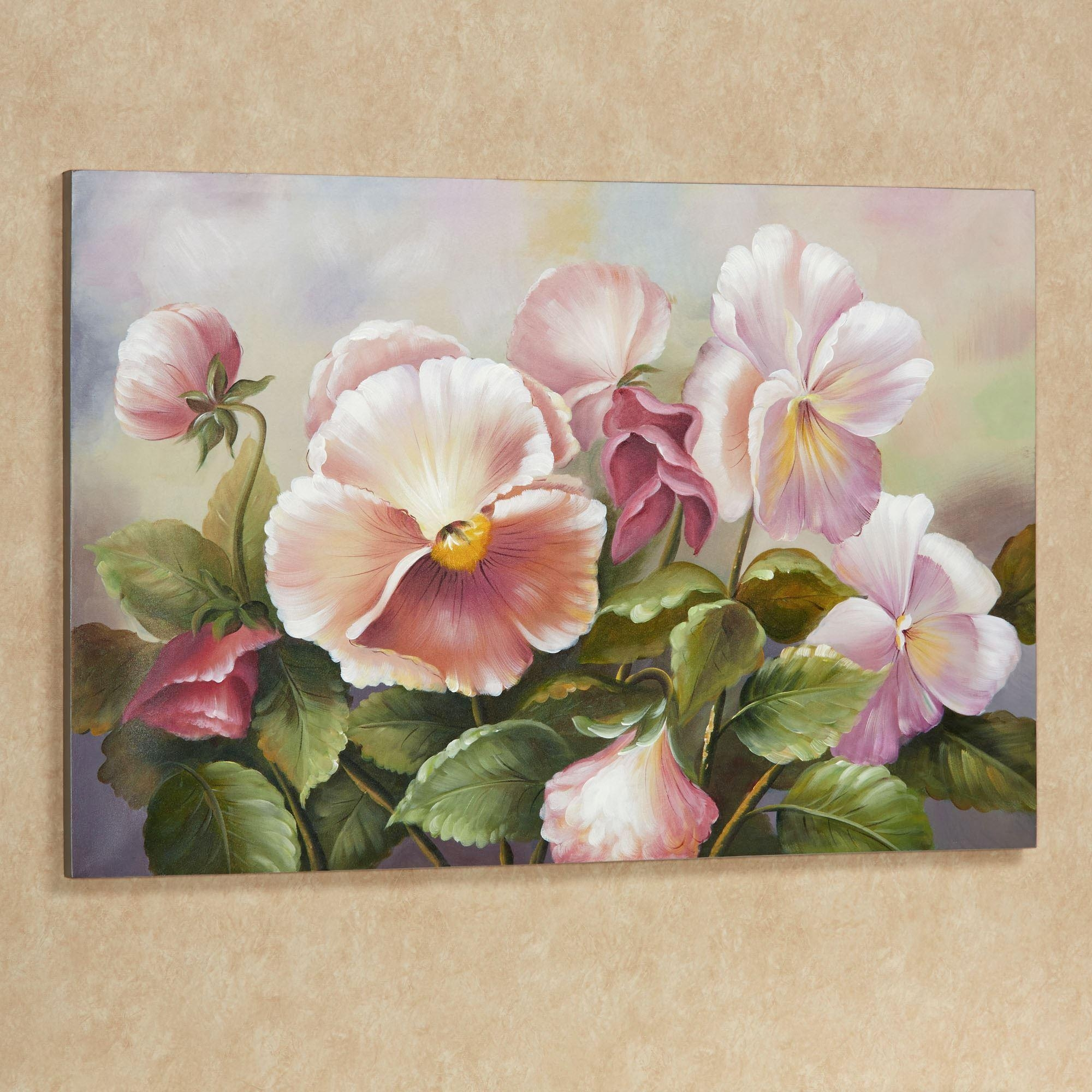 Plenty Of Pansies Floral Canvas Art For Floral Wall Art Canvas (Image 15 of 20)
