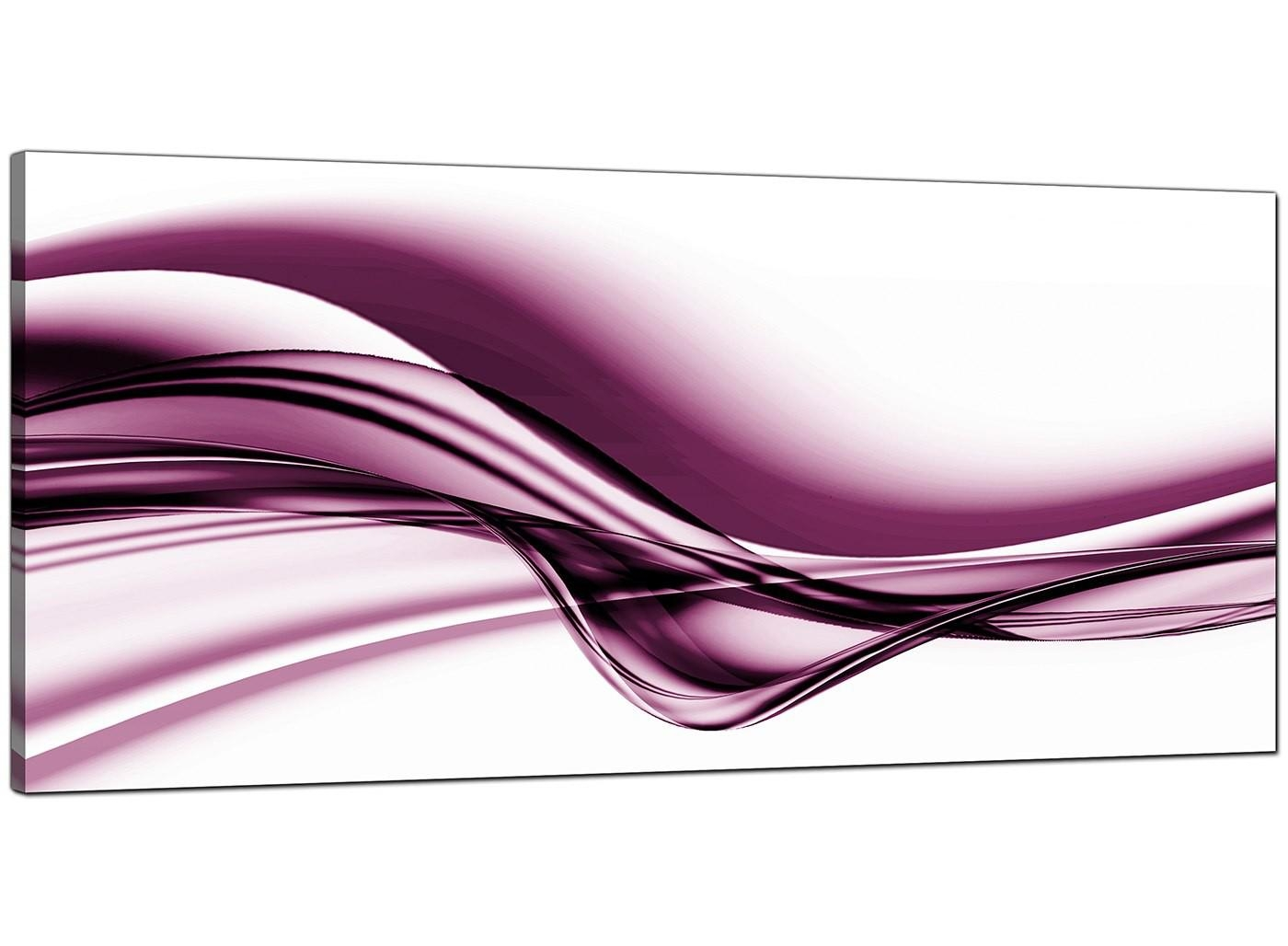 Plum Abstract Canvas Art (120Cm X 50Cm) – 'famal' Intended For Purple Abstract Wall Art (Image 10 of 20)