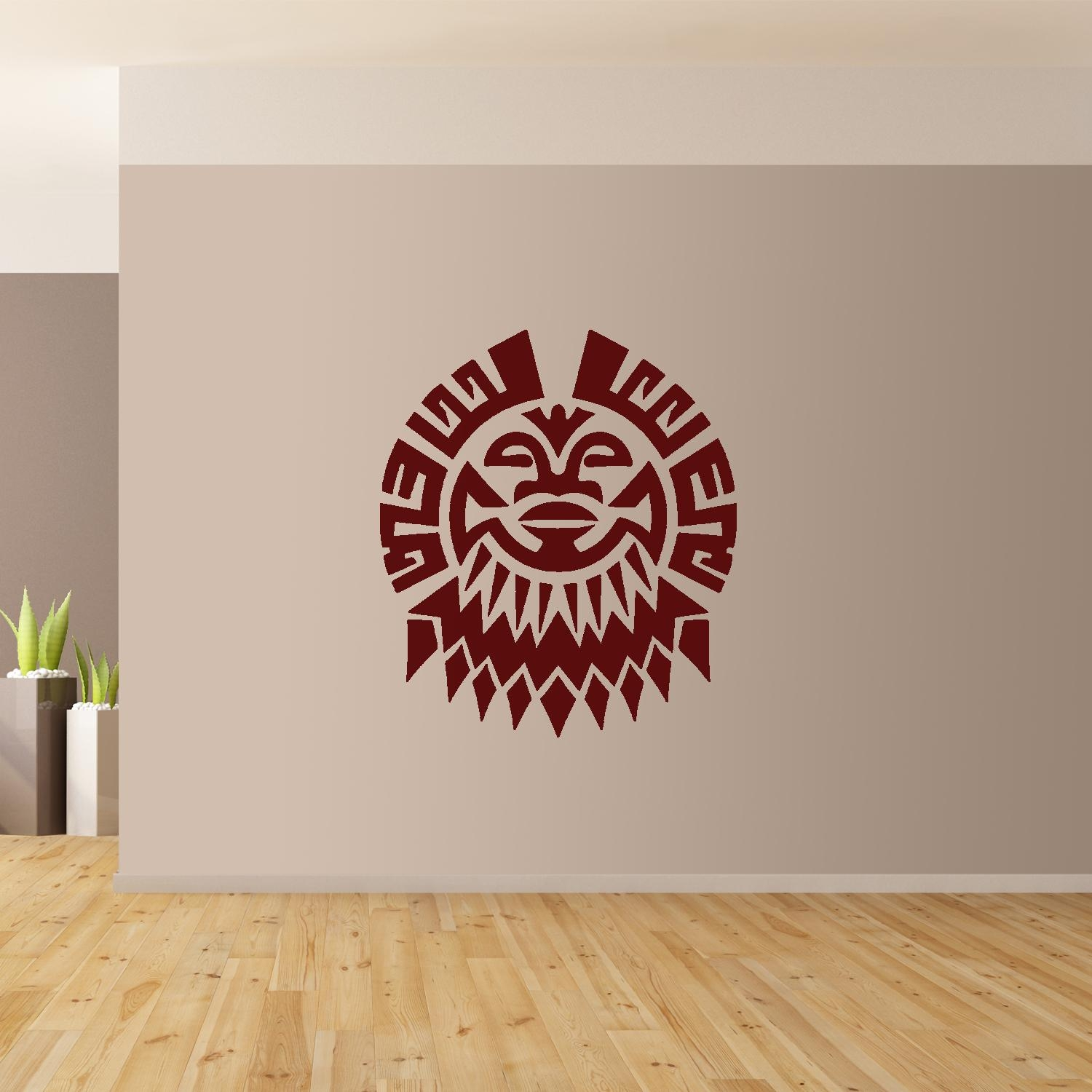 Polynesian Flower Wall Art Giant Sticker Mural Graphic French With Polynesian Wall Art (Image 10 of 20)