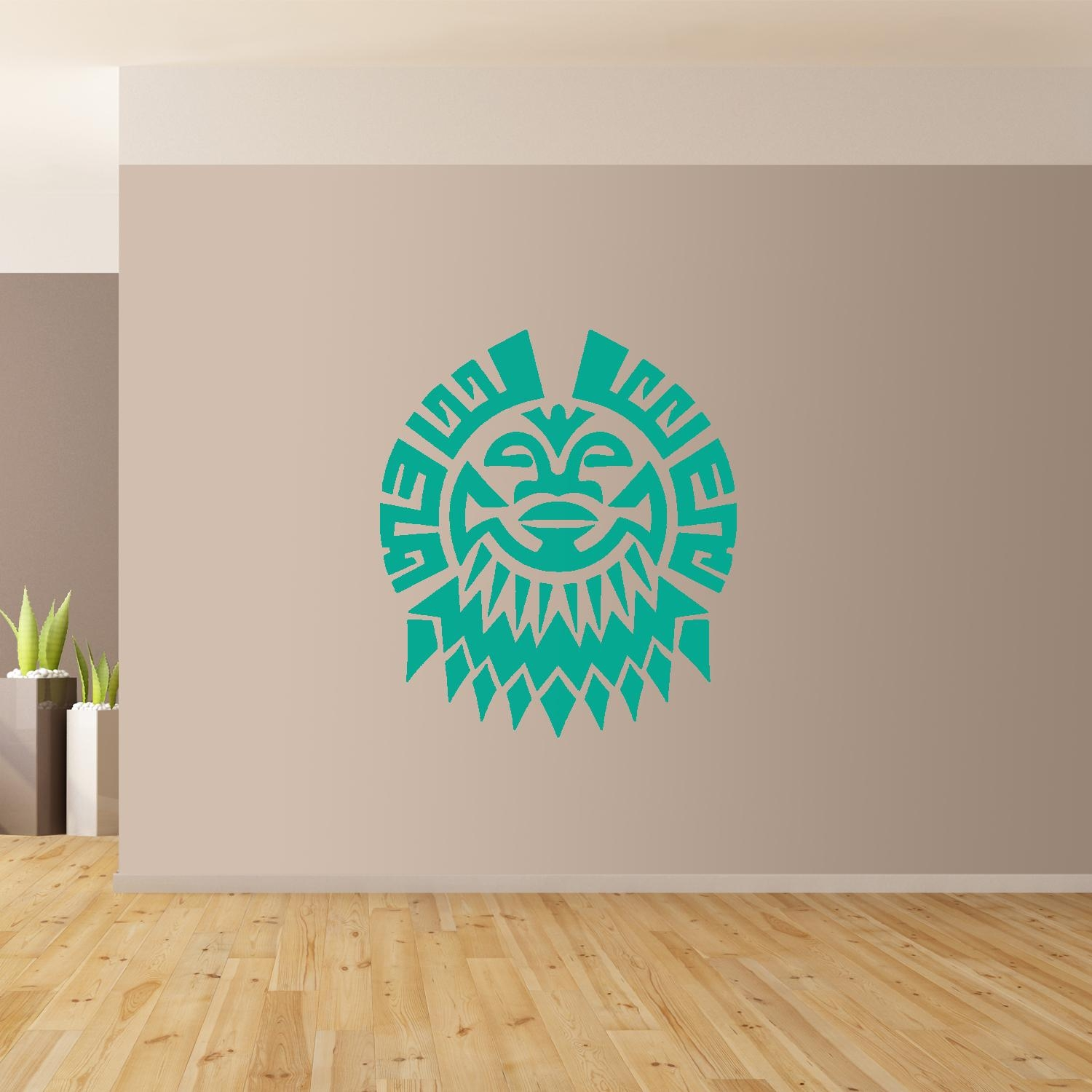 Polynesian Flower Wall Art Giant Sticker Mural Graphic French With Regard To Polynesian Wall Art (Image 11 of 20)
