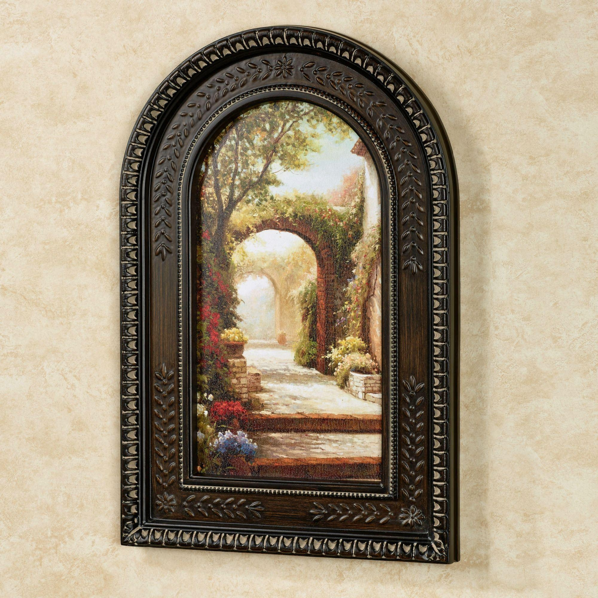 Pomeriggio Arched Framed Wall Art Intended For Brown Framed Wall Art (Image 8 of 20)