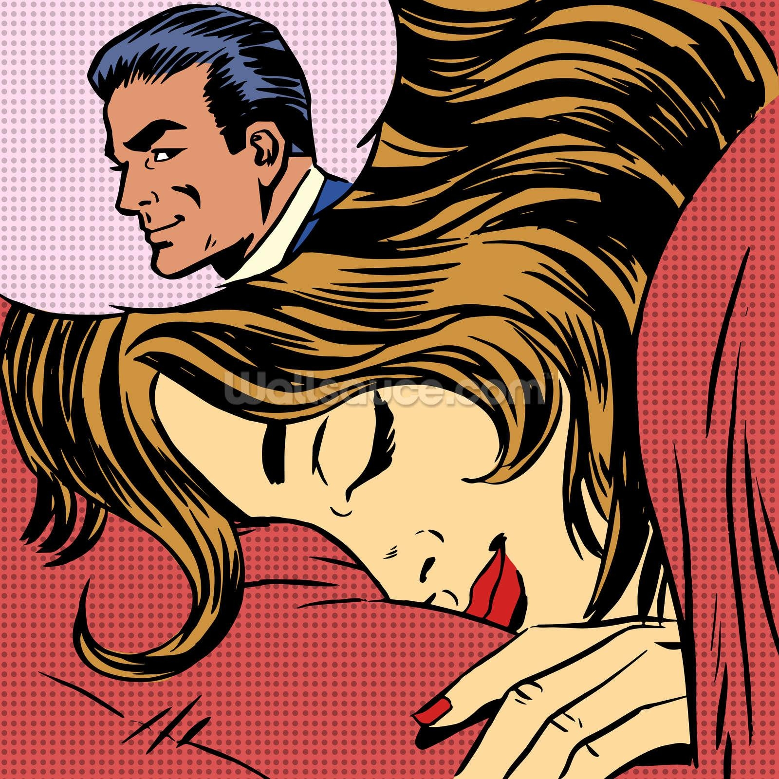 Pop Art Dream Romance Wallpaper Wall Mural | Wallsauce Australia For Pop Art Wallpaper For Walls (Image 10 of 20)