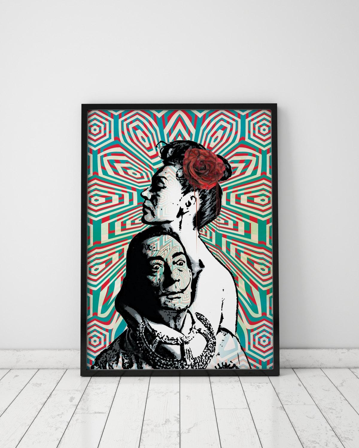 Pop Art Print Salvador Dali Print Dali Print Op Art Pop Art Intended For Salvador Dali Wall Art (Image 18 of 20)