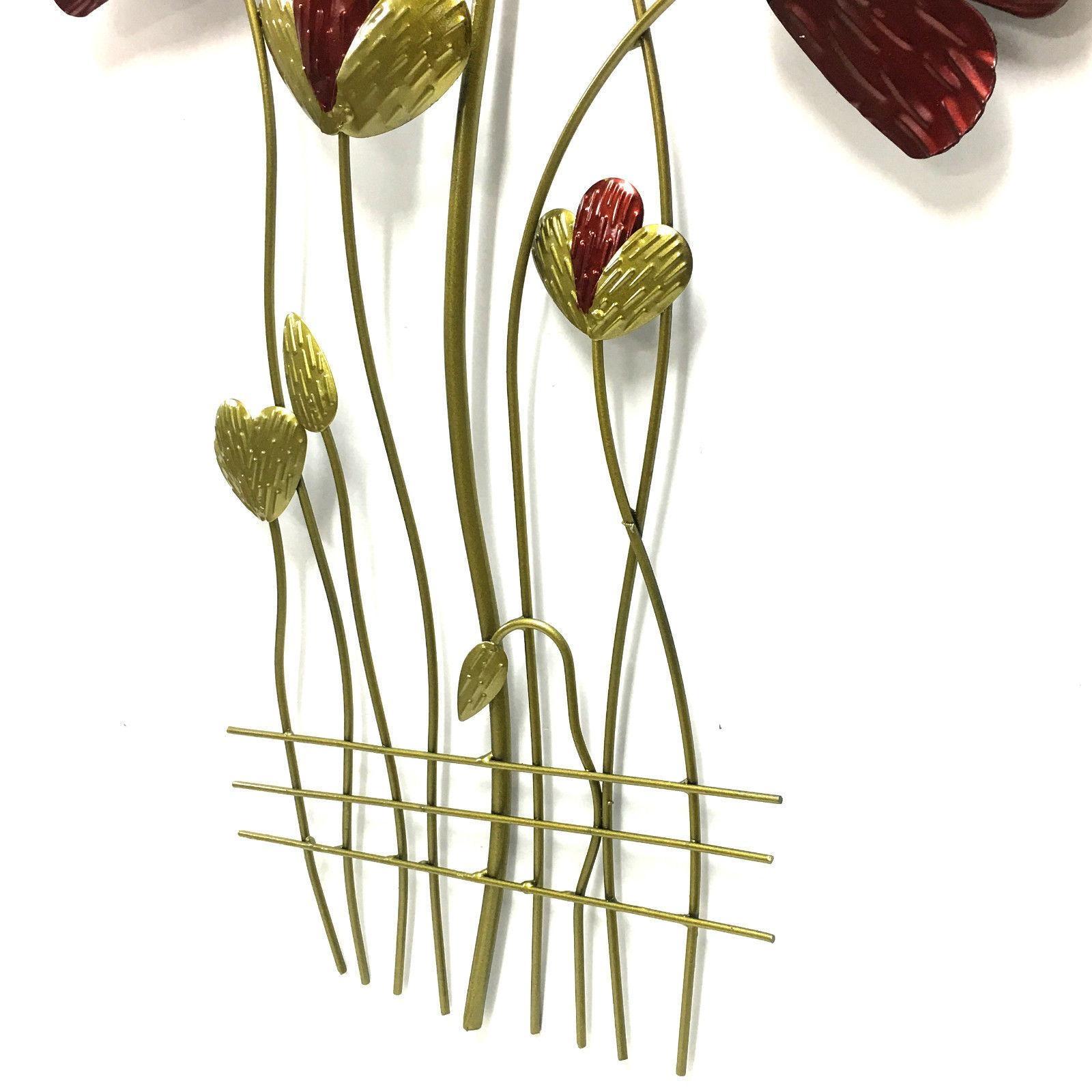 Poppy Flower Metal Wall Art 63Cm In Metal Poppy Wall Art (View 20 of 20)