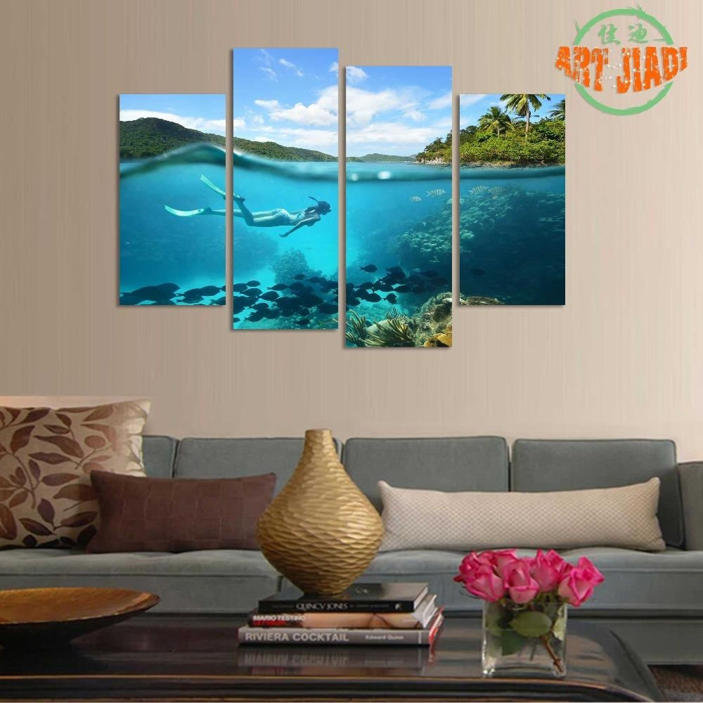 Popular 4 Piece Canvas Art Set Buy Cheap 4 Piece Canvas Art Set Throughout 4 Piece Canvas Art Sets (View 19 of 20)