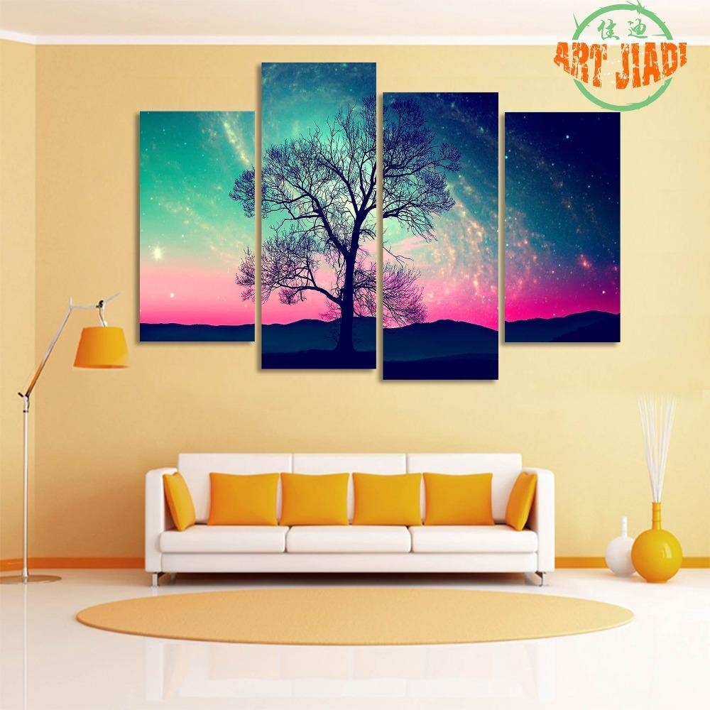 Popular 4 Piece Canvas Art Set Buy Cheap 4 Piece Canvas Art Set With 4 Piece Canvas Art Sets (View 7 of 20)