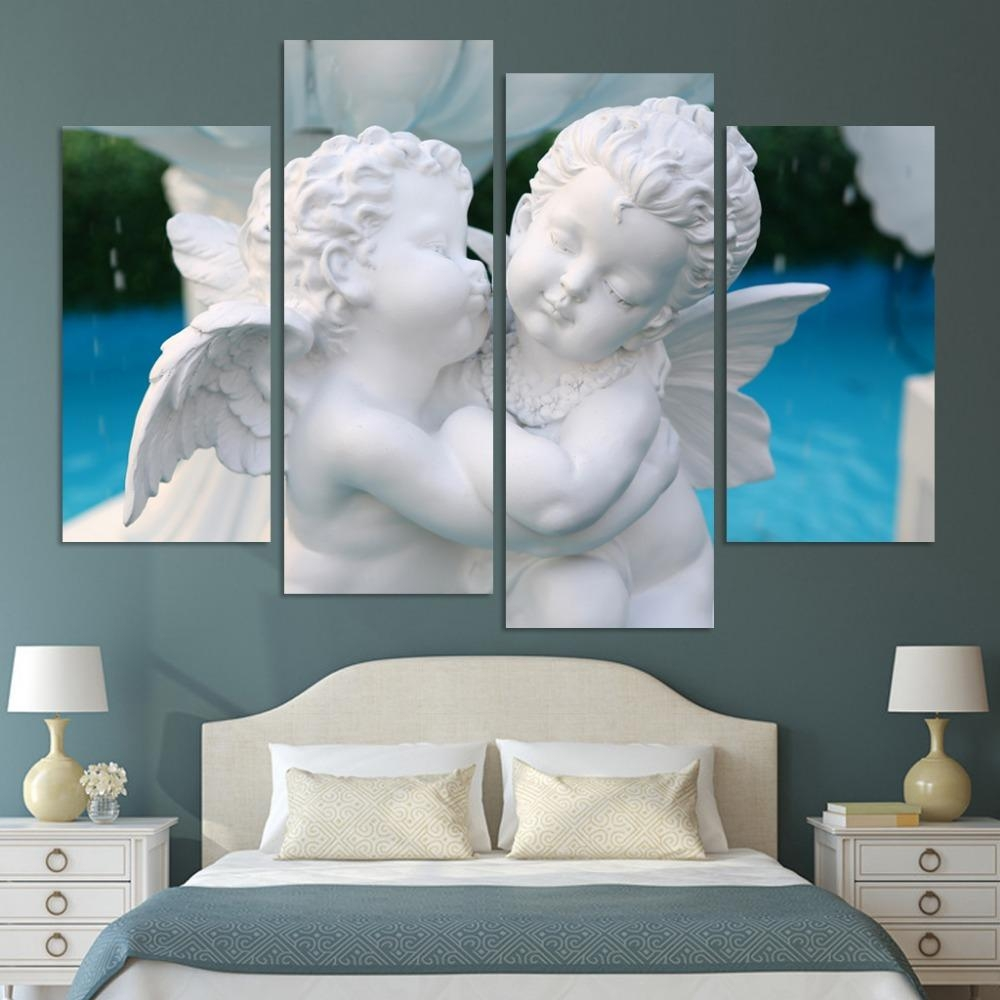 Popular Angel Wall Art Buy Cheap Angel Wall Art Lots From China Throughout Angel Wings Sculpture Plaque Wall Art (Image 15 of 20)