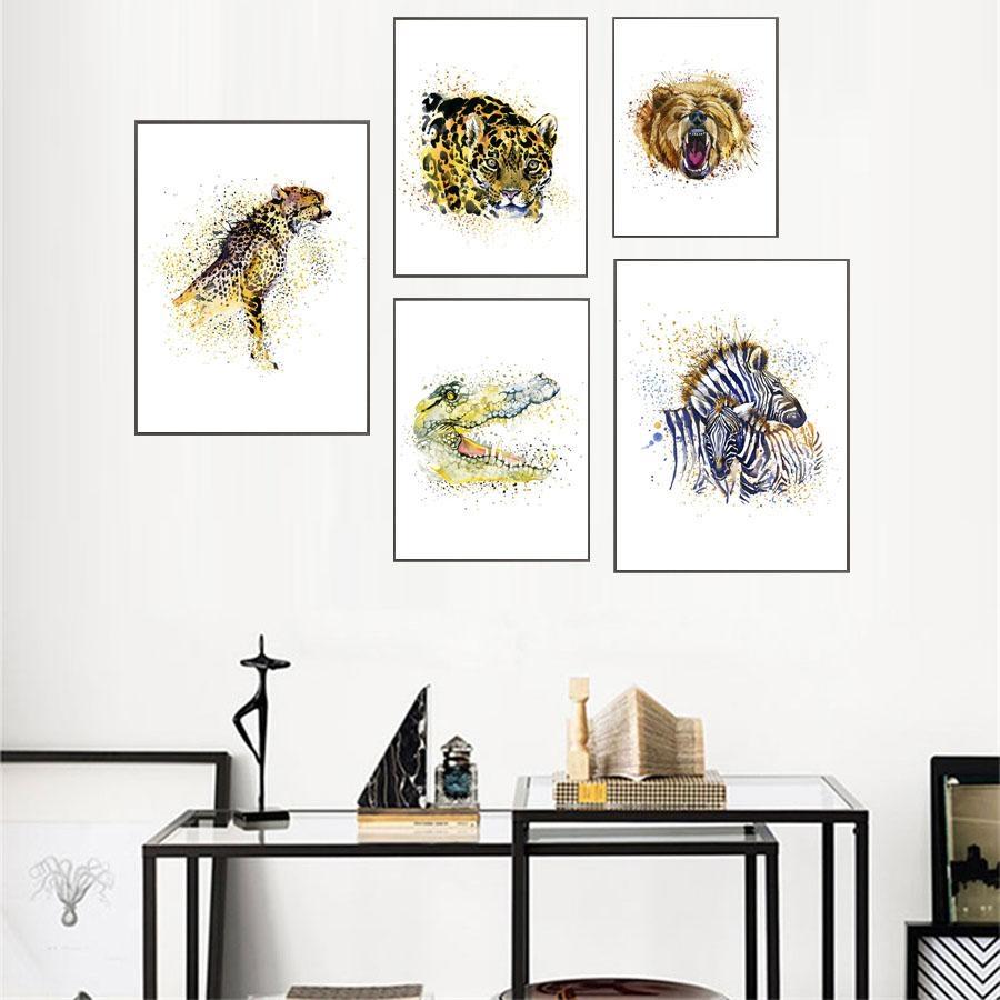 Popular Canvas Lion Wall Art Buy Cheap Canvas Lion Wall Art Lots For Lion Wall Art (View 11 of 20)