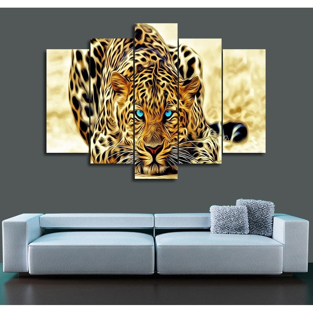 Popular Cheetah Wall Art Buy Cheap Cheetah Wall Art Lots From Regarding Animal Canvas Wall Art (Image 16 of 20)