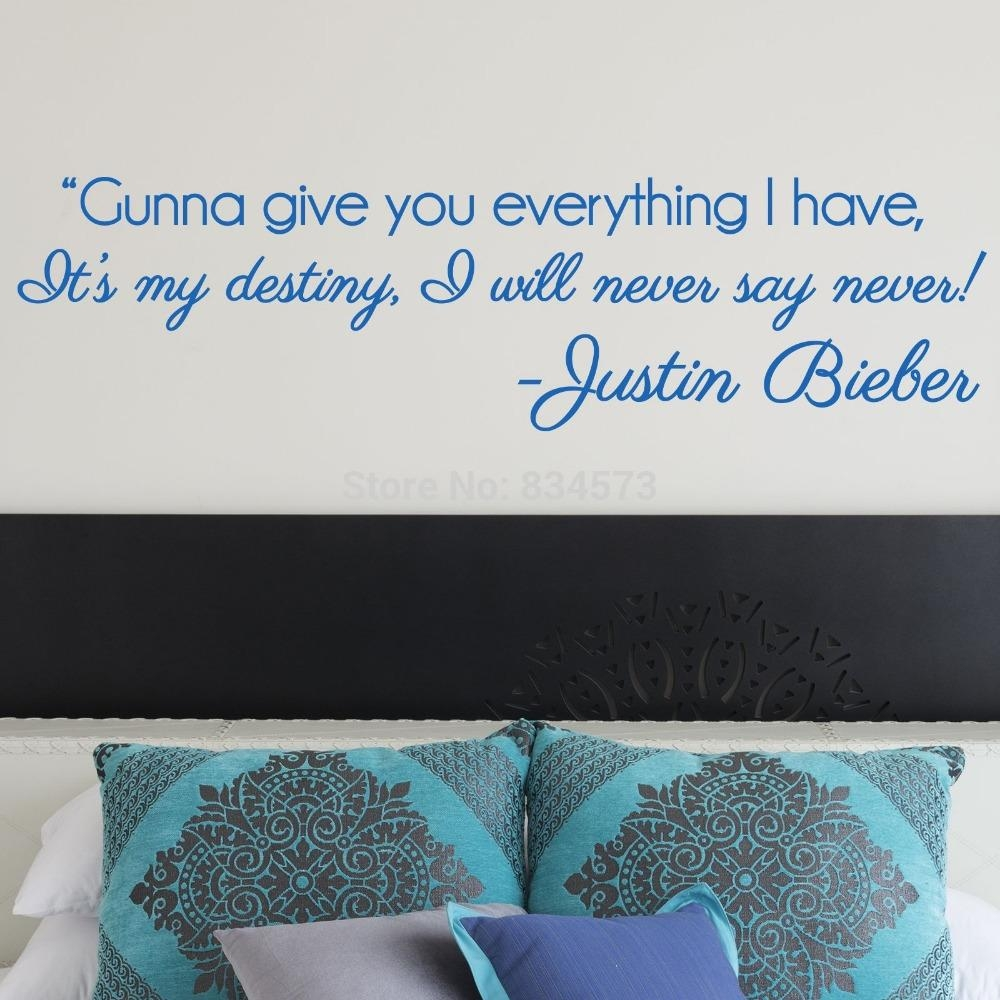 Popular Decorations Justin Bieber Buy Cheap Decorations Justin With Regard To Justin Bieber Wall Art (View 7 of 20)