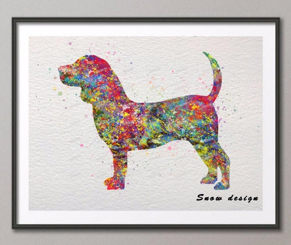 Popular Dog Print Picture Buy Cheap Dog Print Picture Lots From Throughout Dachshund Wall Art (Image 17 of 20)