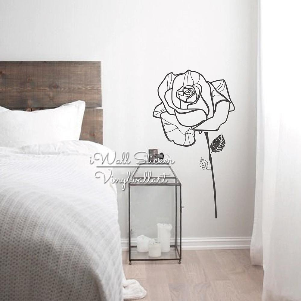 Popular Floral Vinyl Wall Art Buy Cheap Floral Vinyl Wall Art Lots With Regard To Modern Vinyl Wall Art (View 20 of 20)