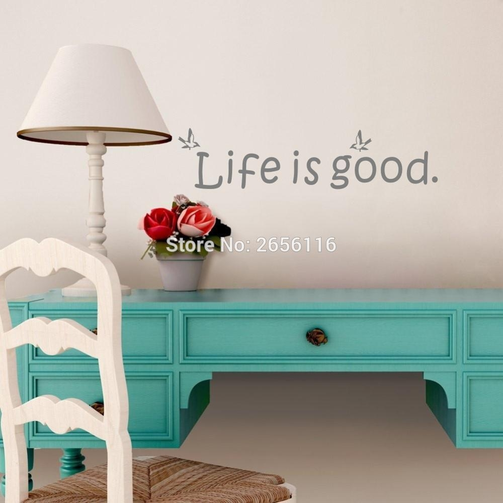 Popular Life Is Good Life Buy Cheap Life Is Good Life Lots From Pertaining To Life Is Good Wall Art (View 8 of 20)