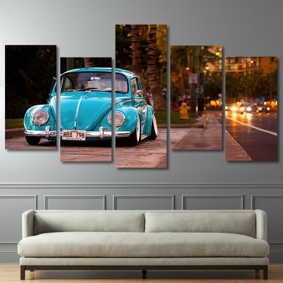 Popular Modern Classic Car Buy Cheap Modern Classic Car Lots From Intended For Classic Car Wall Art (Image 13 of 20)
