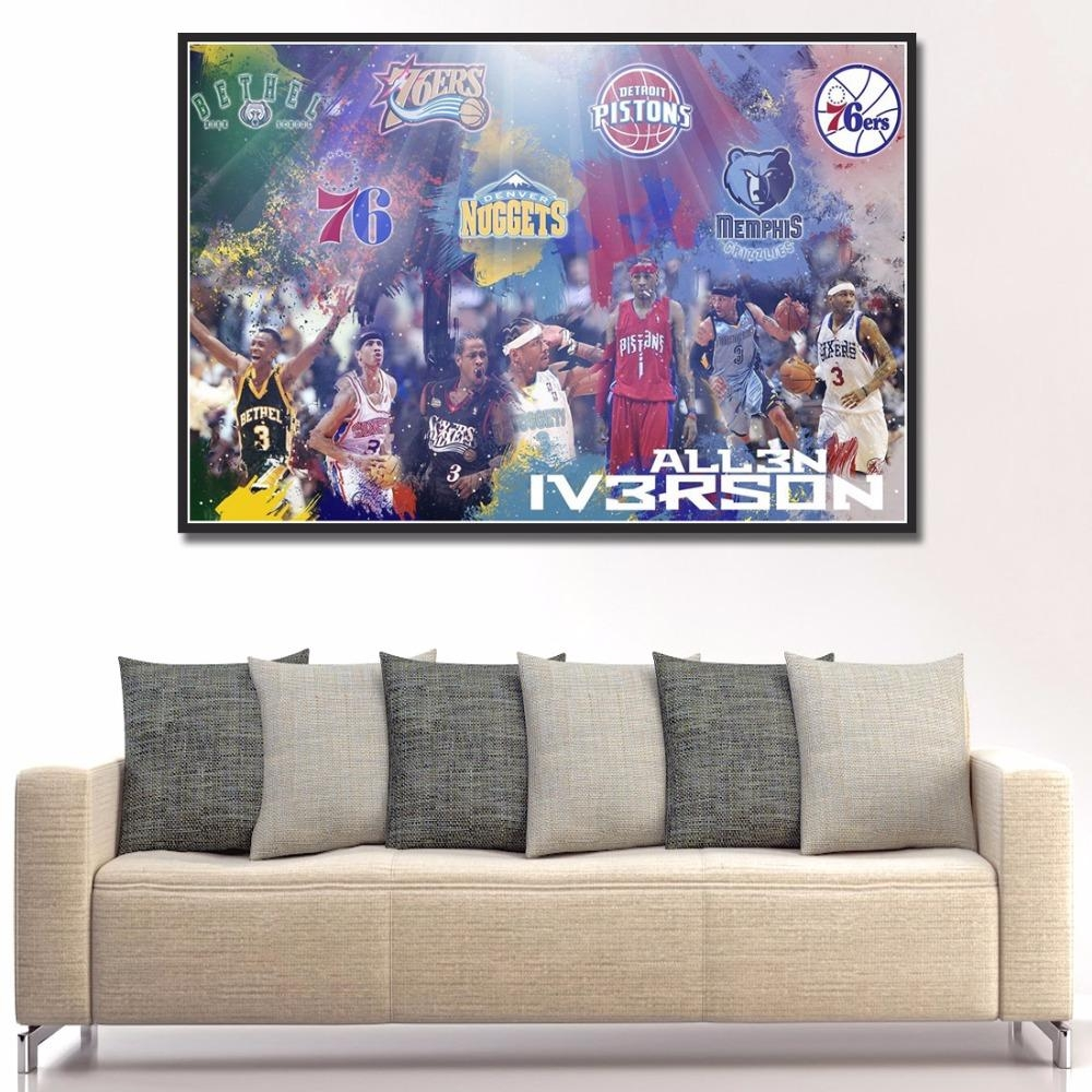 Popular Nba Iverson Buy Cheap Nba Iverson Lots From China Nba Pertaining To Nba Wall Murals (View 15 of 20)
