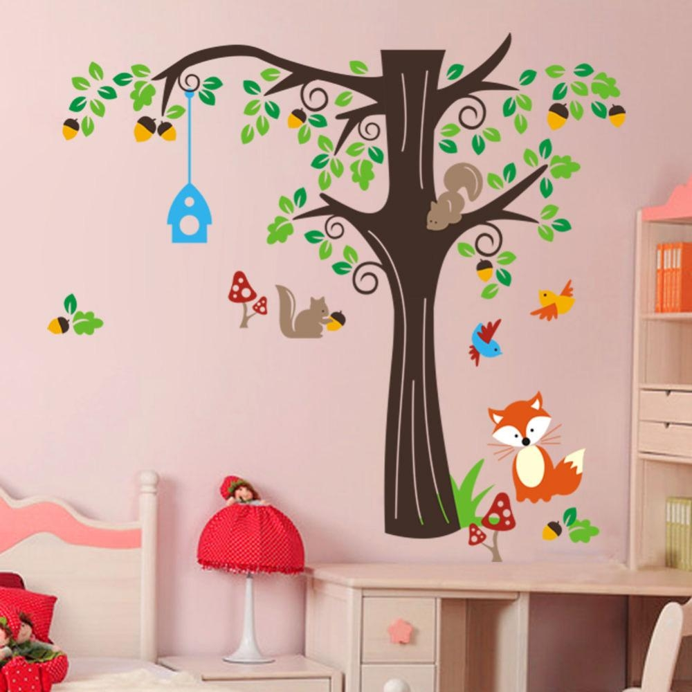 Popular Nursery Wall Stickers Mushroom Buy Cheap Nursery Wall Intended For Mushroom Wall Art (Image 19 of 20)