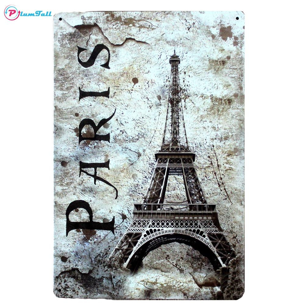 Popular Paris Metal Wall Art Buy Cheap Paris Metal Wall Art Lots In Eiffel Tower Metal Wall Art (View 12 of 20)