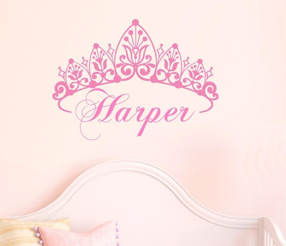 Popular Personalized Wall Art For Nursery Buy Cheap Personalized Pertaining To Princess Crown Wall Art (Image 15 of 20)