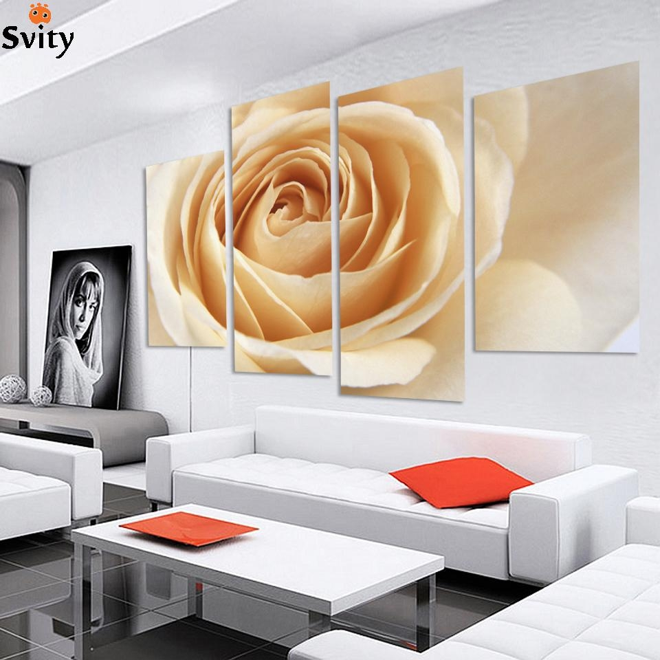 Popular Purple Rose Canvas Wall Art Buy Cheap Purple Rose Canvas Regarding Rose Canvas Wall Art (View 15 of 20)
