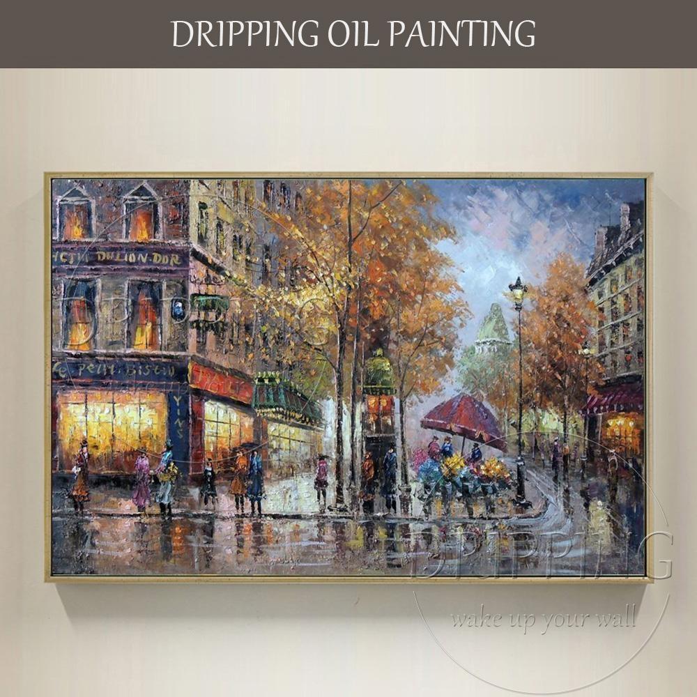 Popular Street Scene Oil Painting Buy Cheap Street Scene Oil With Street Scene Wall Art (View 7 of 20)