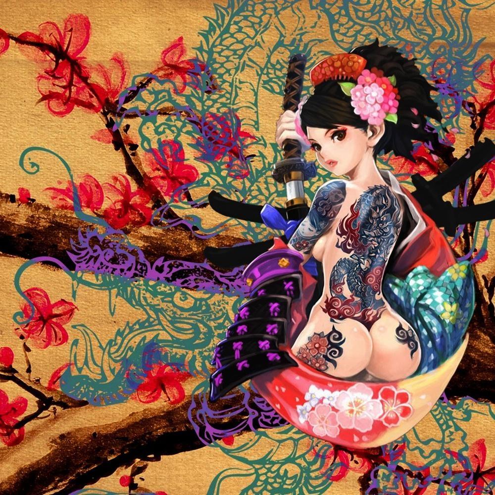 Popular Tattoo Prints Wall Art Buy Cheap Tattoo Prints Wall Art In Geisha Canvas Wall Art (Image 19 of 20)