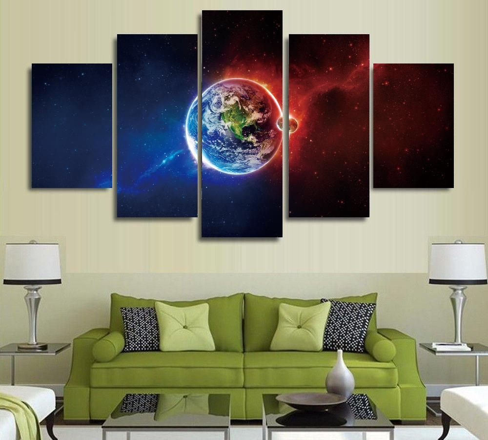 Popular Unframed Printed Planets Outer Space Buy Cheap Unframed With Regard To Outer Space Wall Art (View 12 of 20)
