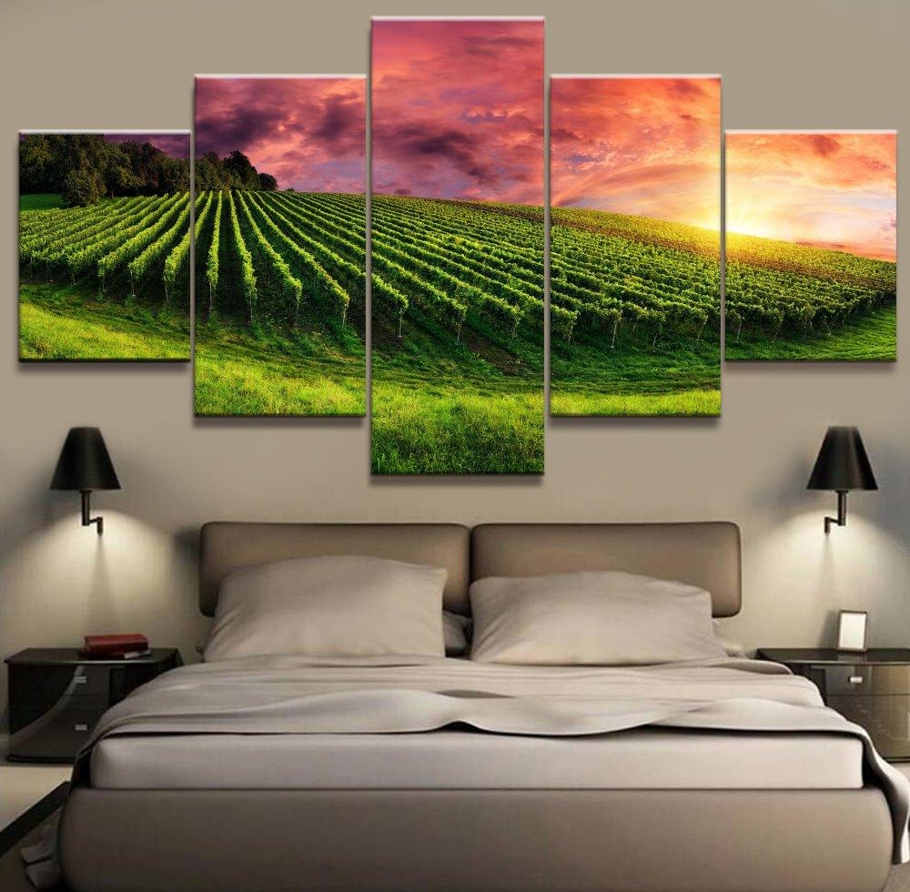 Popular Vineyards Paintings Buy Cheap Vineyards Paintings Lots Regarding Vineyard Wall Art (Image 13 of 20)