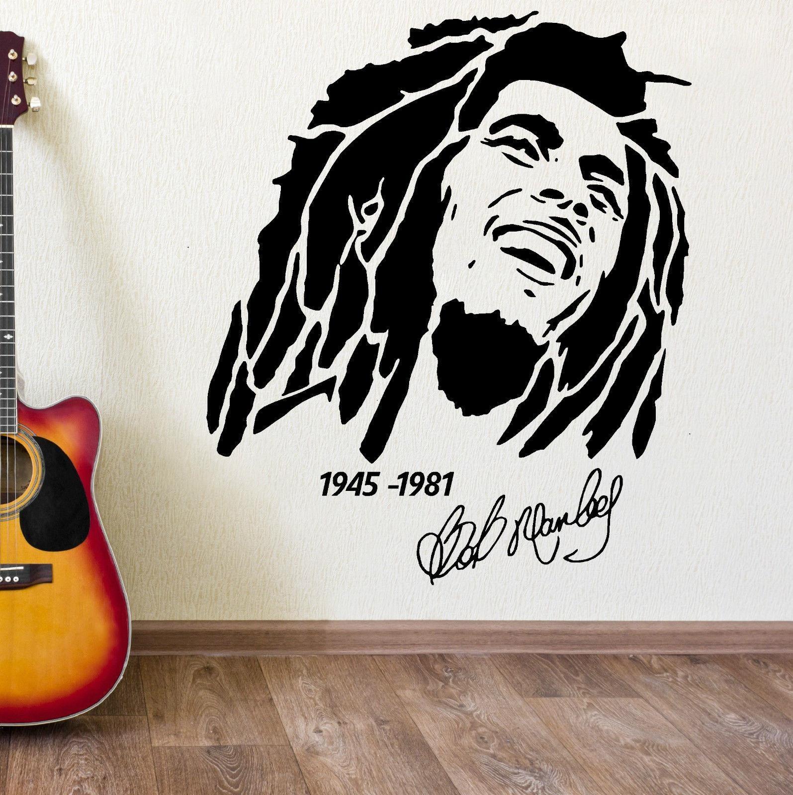 Popular Wall Art Bob Marley Vinyl Sticker Buy Cheap Wall Art Bob With Regard To Bob Marley Wall Art (Image 19 of 20)
