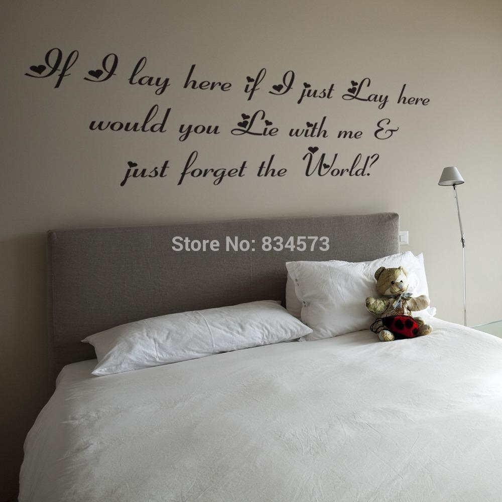 Popular Wall Art Stickers Lyrics Buy Cheap Wall Art Stickers Intended For Justin Bieber Wall Art (View 19 of 20)