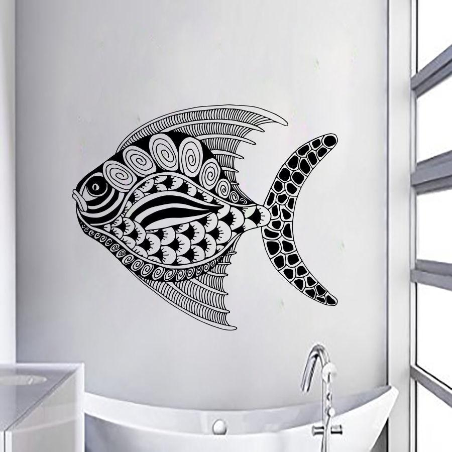 Popular Wall Decal Fish Buy Cheap Wall Decal Fish Lots From China With Regard To Fish Decals For Bathroom (View 18 of 20)