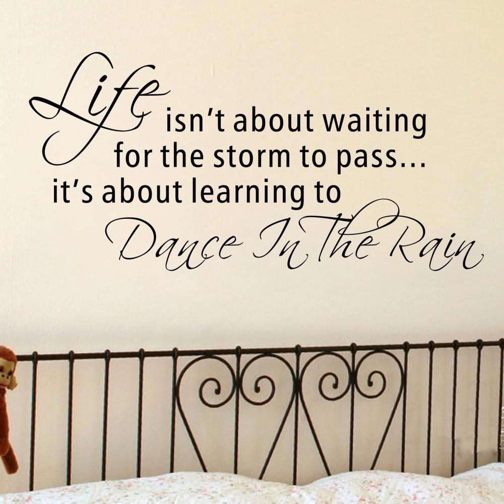 Popular Wall Sticker Dance Rain Buy Cheap Wall Sticker Dance Rain With Regard To Coco Chanel Wall Decals (View 17 of 20)