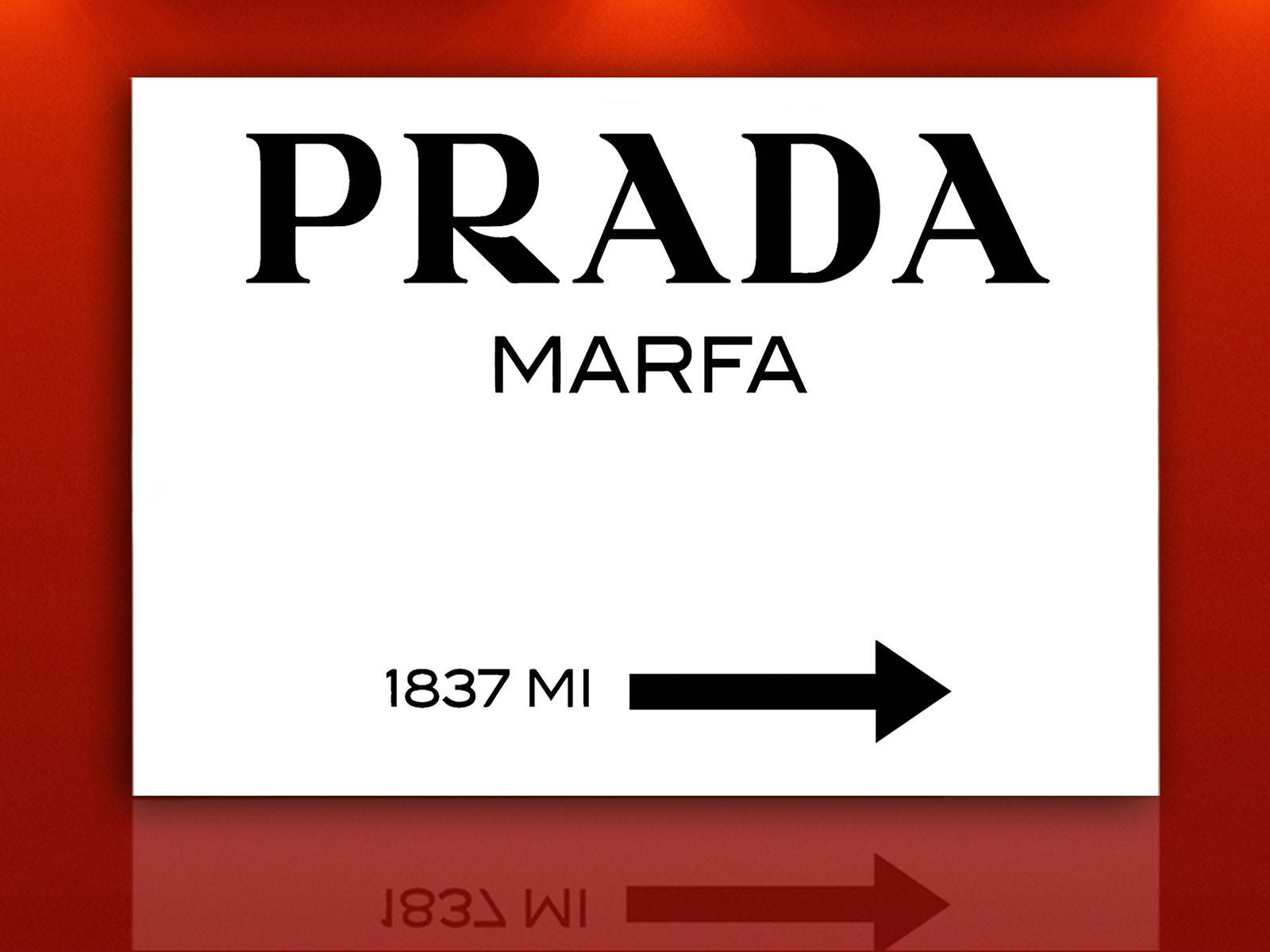 Prada Marfa Gossip Girl, Stampa Su Tela Canvas With Regard To Prada Marfa Wall Art (Image 15 of 20)