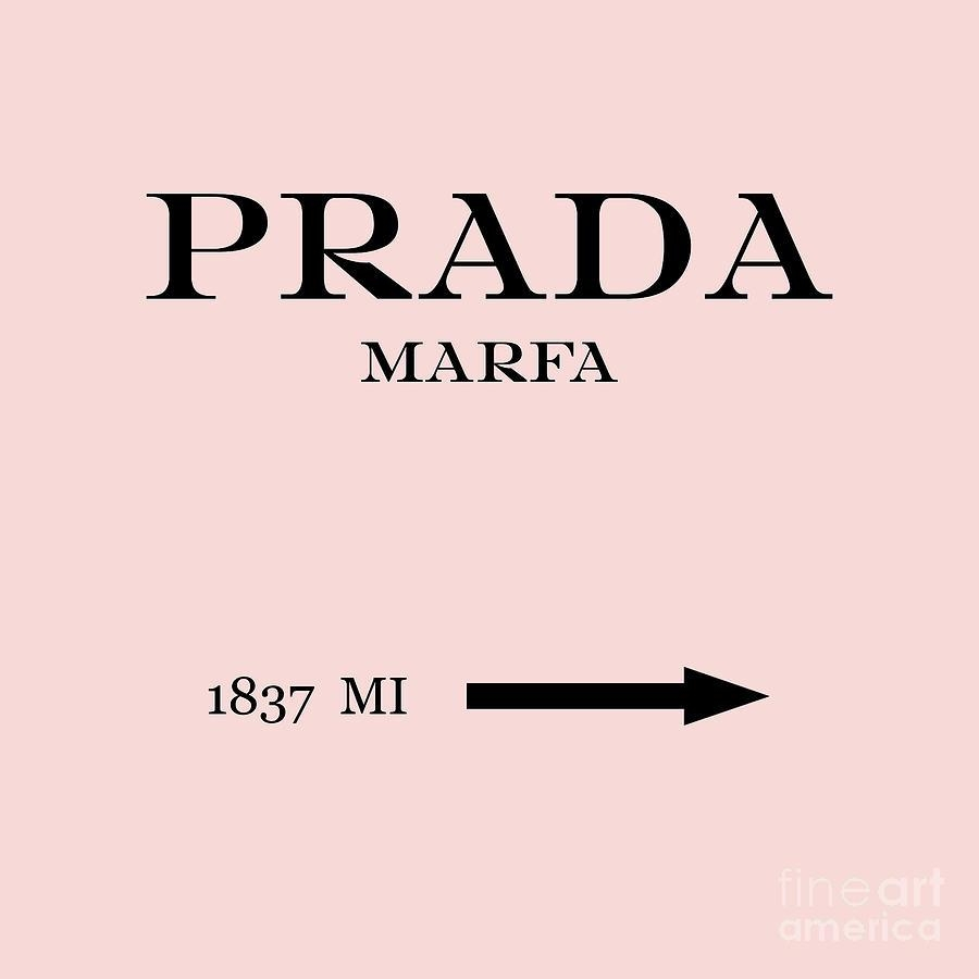Prada Marfa Mileage Distance Digital Artedit Voros Within Prada Marfa Wall Art (Image 16 of 20)