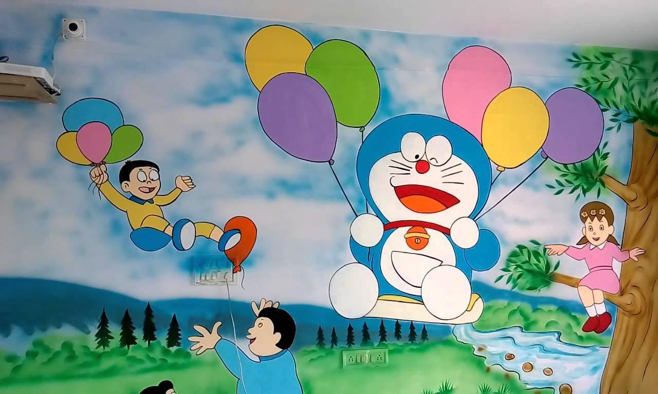 Preschool Or Playschool Classroom Wall Theme Painting India – Youtube Intended For Preschool Wall Decoration (View 13 of 20)