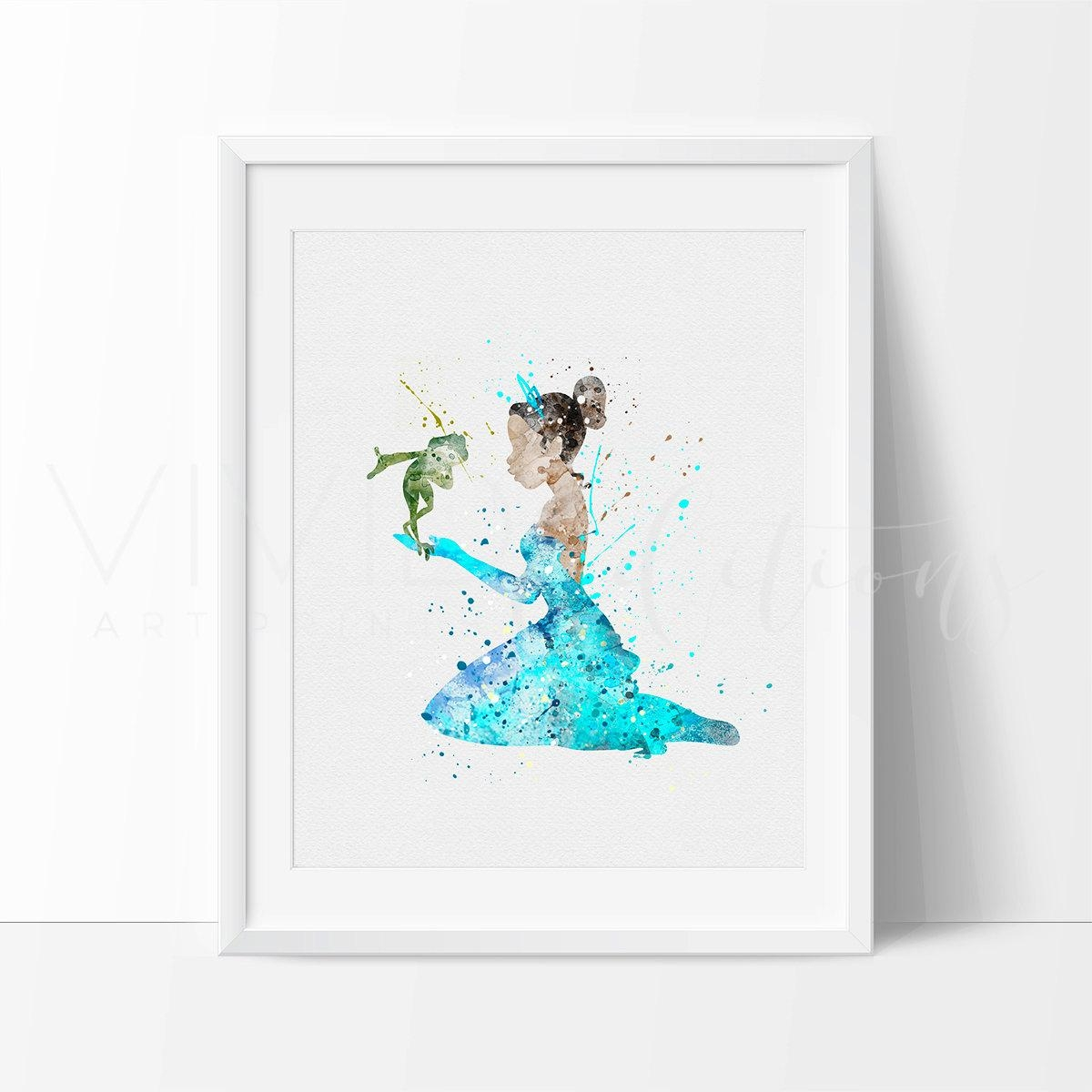 Princess Tiana Princess And The Frog Disney Baby Girl Throughout Disney Princess Framed Wall Art (View 8 of 20)